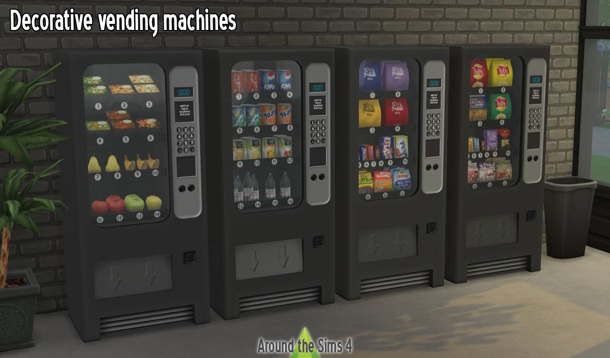 Around the sims 4 custom content download decorative vending machines - Decors muraux exterieurs ...