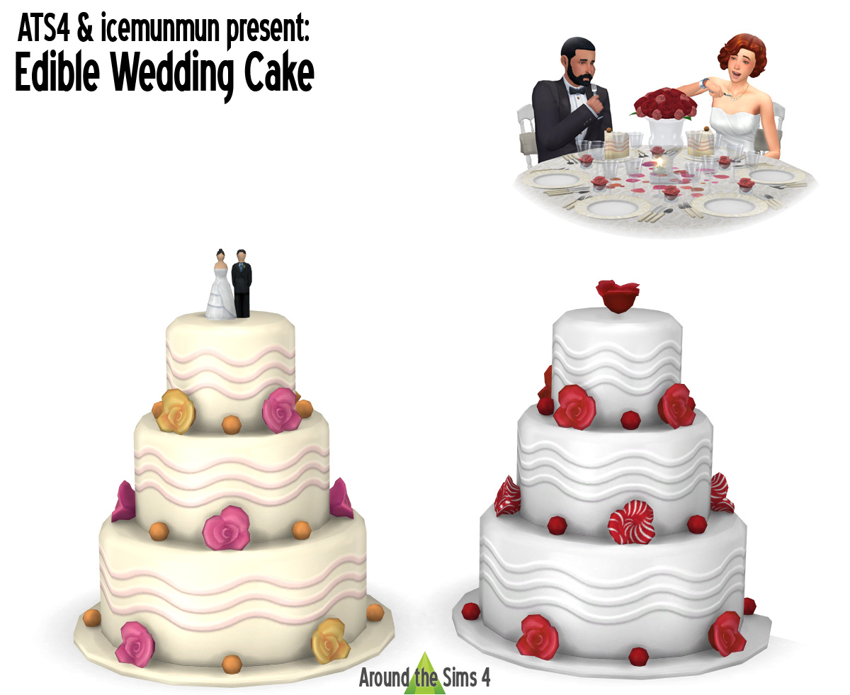 can t bake wedding cake sims 4 around the sims 4 custom content edible 12363