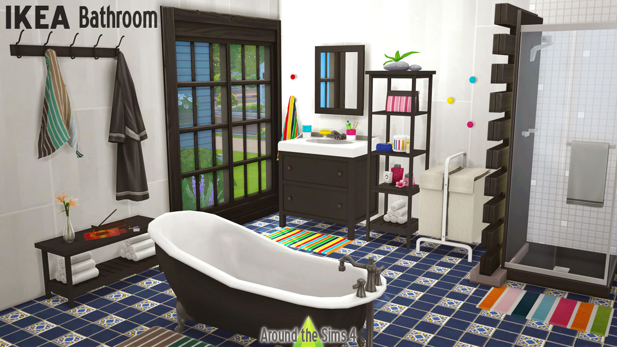 Around the sims 4 custom content download ikea bathroom for Salle de bain hemnes