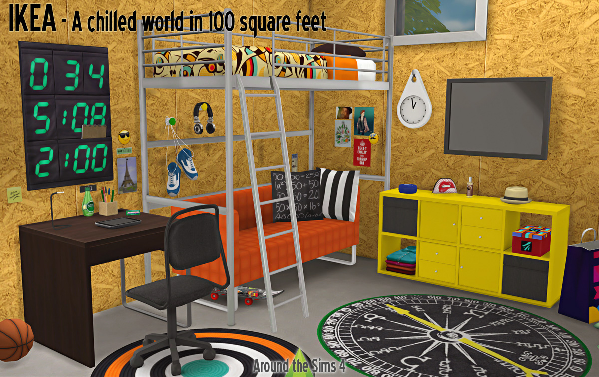 Around The Sims 4 Custom Content Download Ikea Bedroom