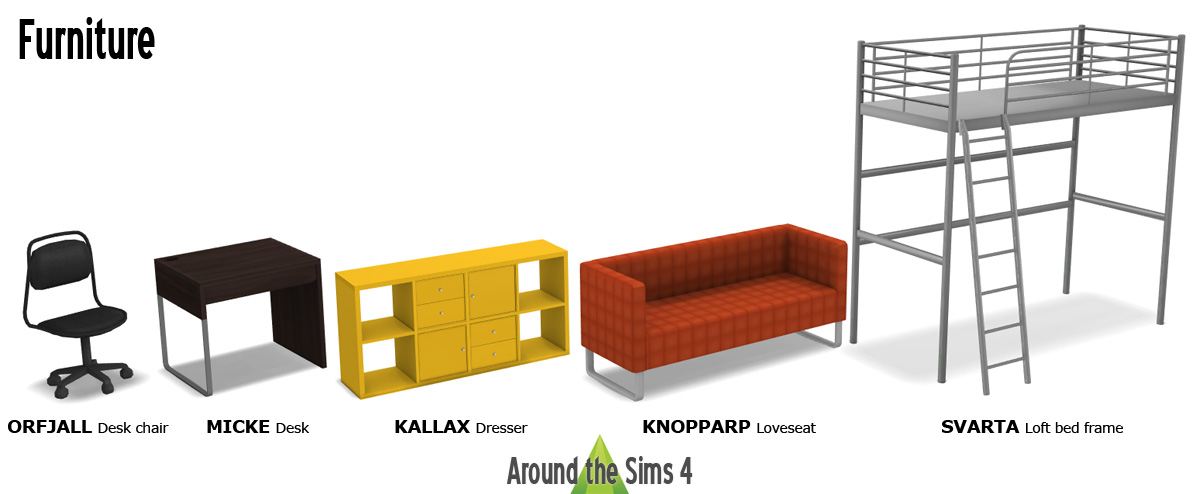 around the sims 4 custom content download ikea bedroom a chillded world in 100 suare feet. Black Bedroom Furniture Sets. Home Design Ideas
