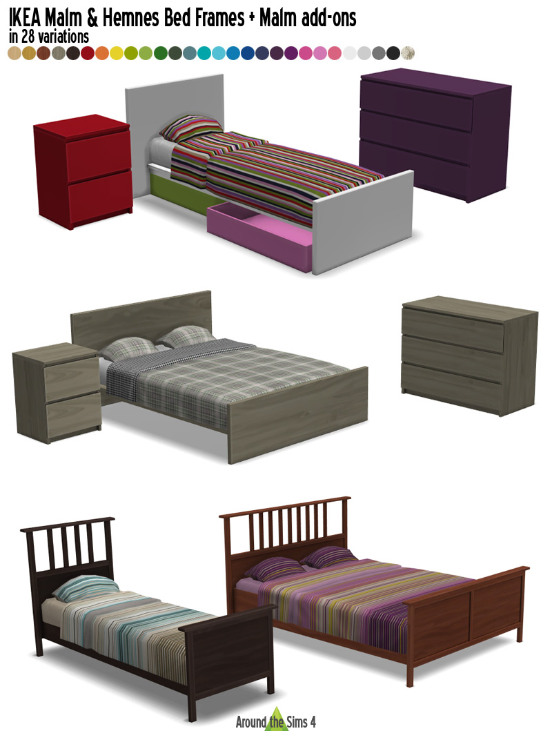 Around The Sims 4 Custom Content Download Ikea Bedrooms