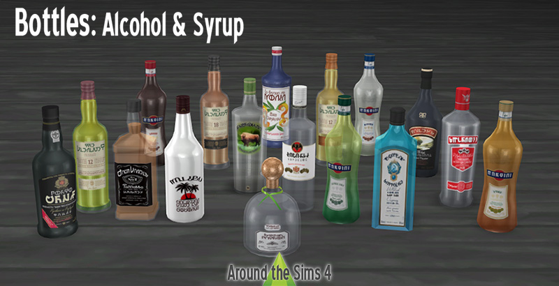 Around the Sims 4 | Custom Content Download | Bottles