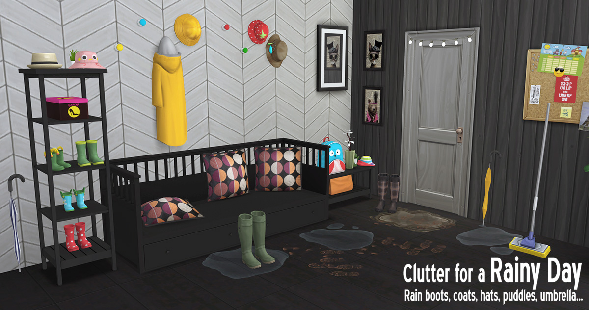 Around The Sims 4 Custom Content Download Rainy Day
