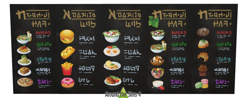 Around the sims 4 custom content download restaurant for Objets decoratifs cuisine
