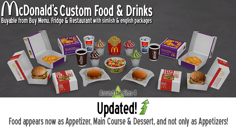 Around the Sims 4 | Custom Content Download | Mc Donald's