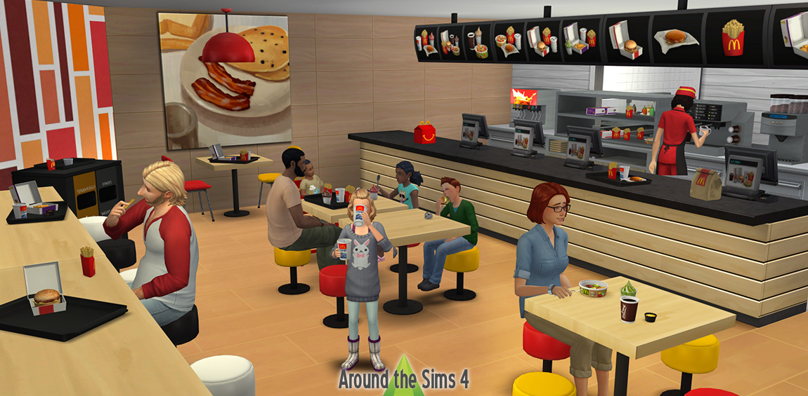 Around The Sims 4 Custom Content Download Mc Donald S