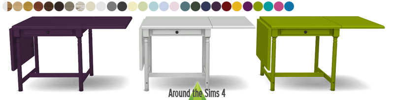 Around the sims 4 custom content download ikea foldable chair table - Ikea table pliante cuisine ...