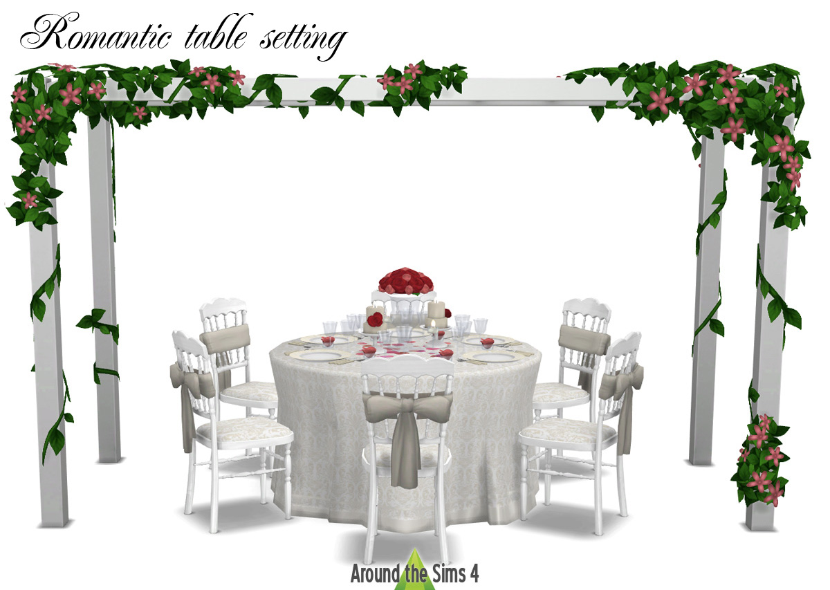Decoration De Table Diner Romantique