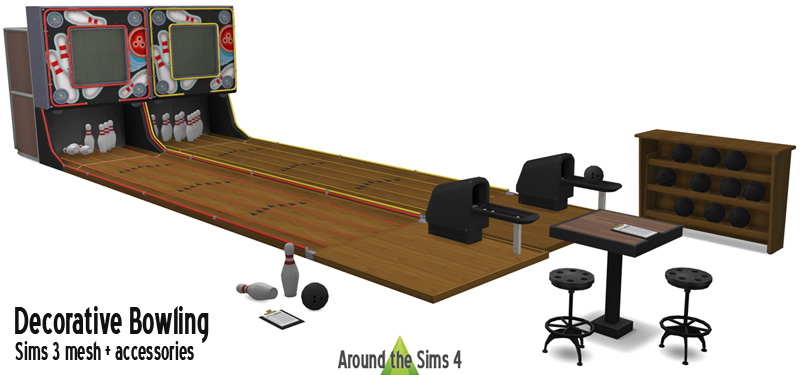 Around The Sims 4 Custom Content Download Bowling