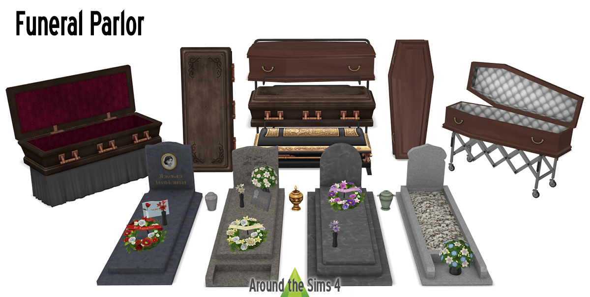 Around the Sims 4 | Custom Content Download | Funeral Parlor