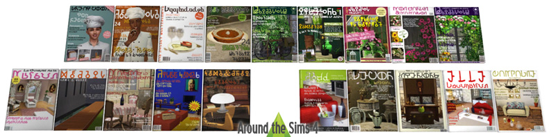 Around the sims 4 custom content download objects newsstand - Magazine decoration maison ...
