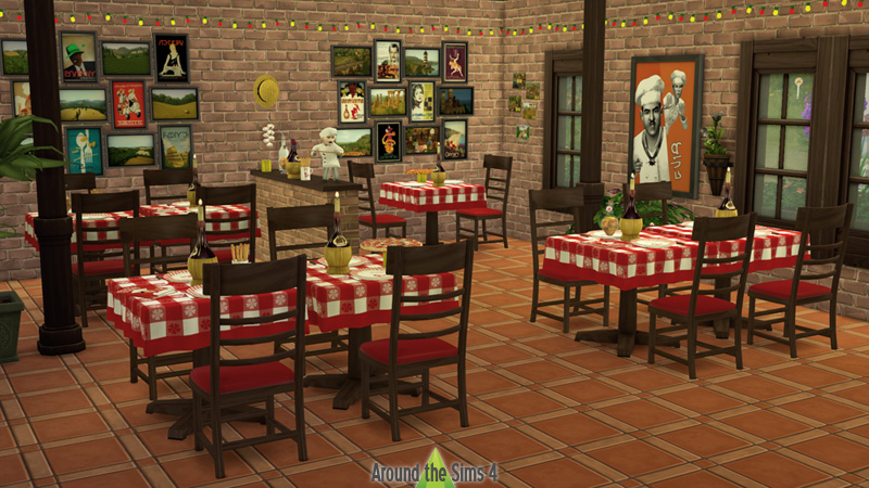 Around the sims 4 custom content download pizzeria for Decors muraux exterieurs