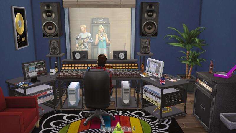 around the sims 4 custom content download recording studio music studio. Black Bedroom Furniture Sets. Home Design Ideas