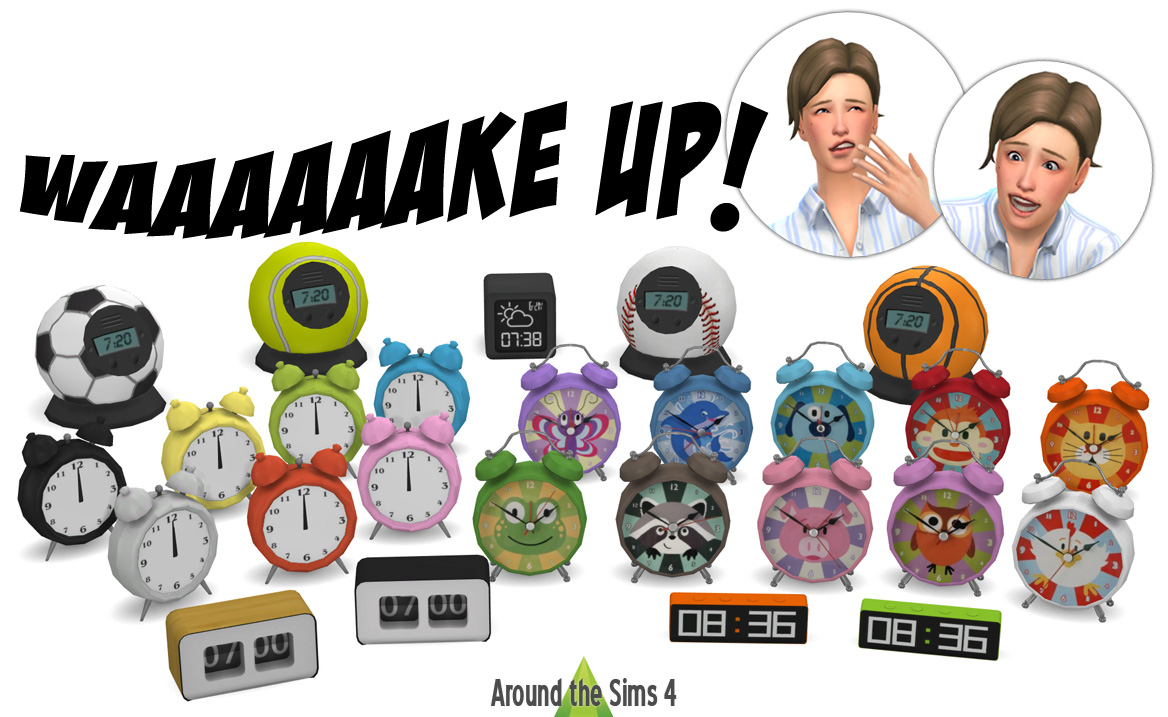 Around the Sims 4 | Custom Content Download | Alarm clocks