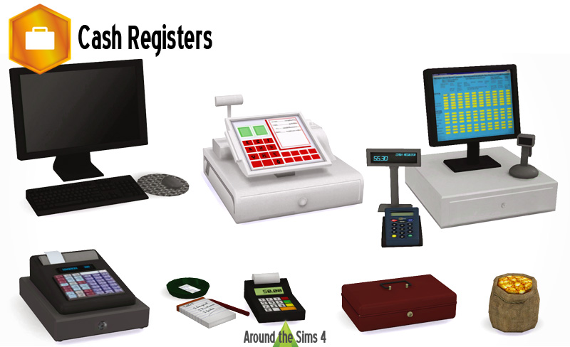 Around The Sims 4 Custom Content Download Cash Registers