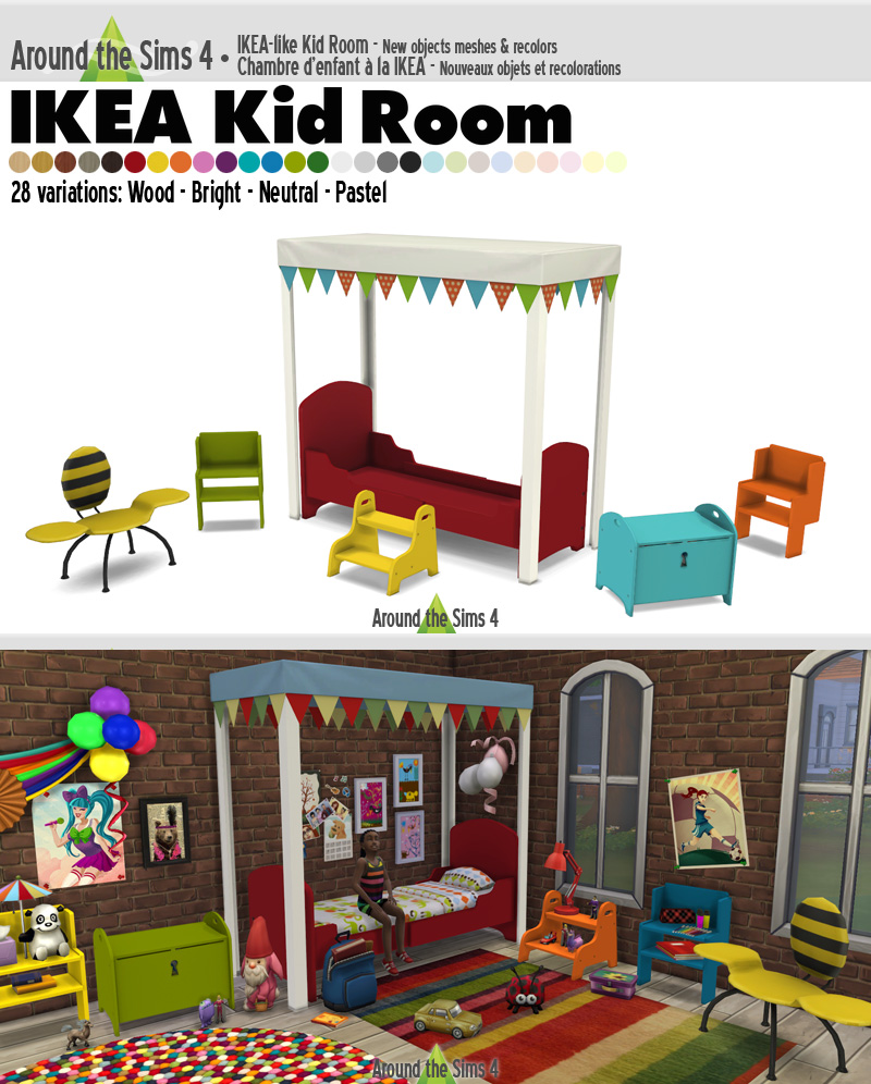 Chambre Garcon 2 Ans Ikea around the sims 4 | custom content download | objects | ikea