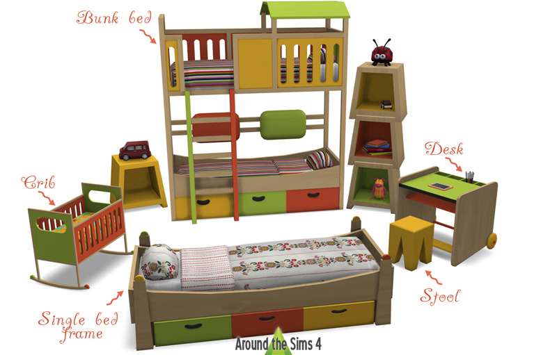Sims 4 Cc Bunk Beds Mattress