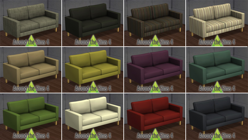 Around the sims 4 custom content download objects ikea living room - Canape 4 places ikea ...