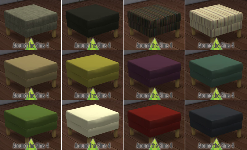 Around the sims 4 custom content download objects ikea living room - Table basse pouf integre ...