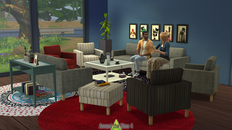 Around the sims 4 custom content download objects ikea living room - Eclairage bibliotheque ikea ...