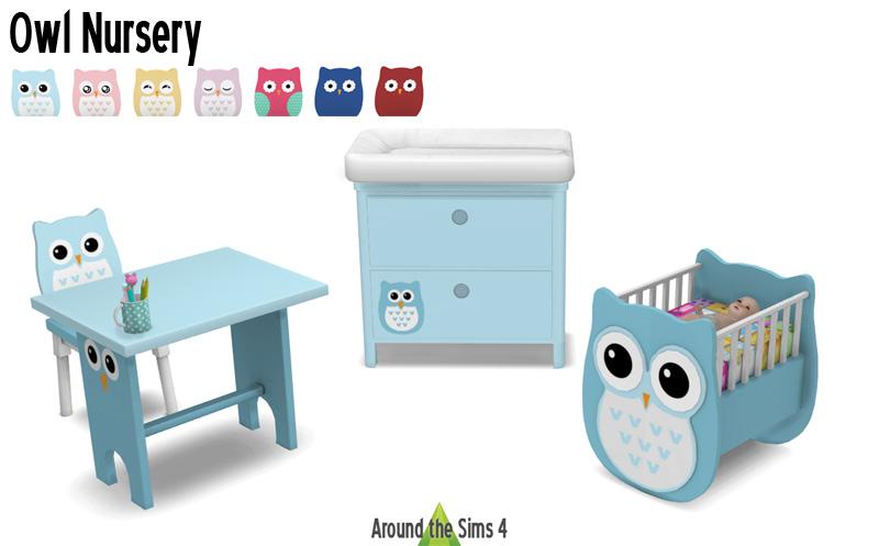 Around The Sims 4 Custom Content Download Owl Nursery