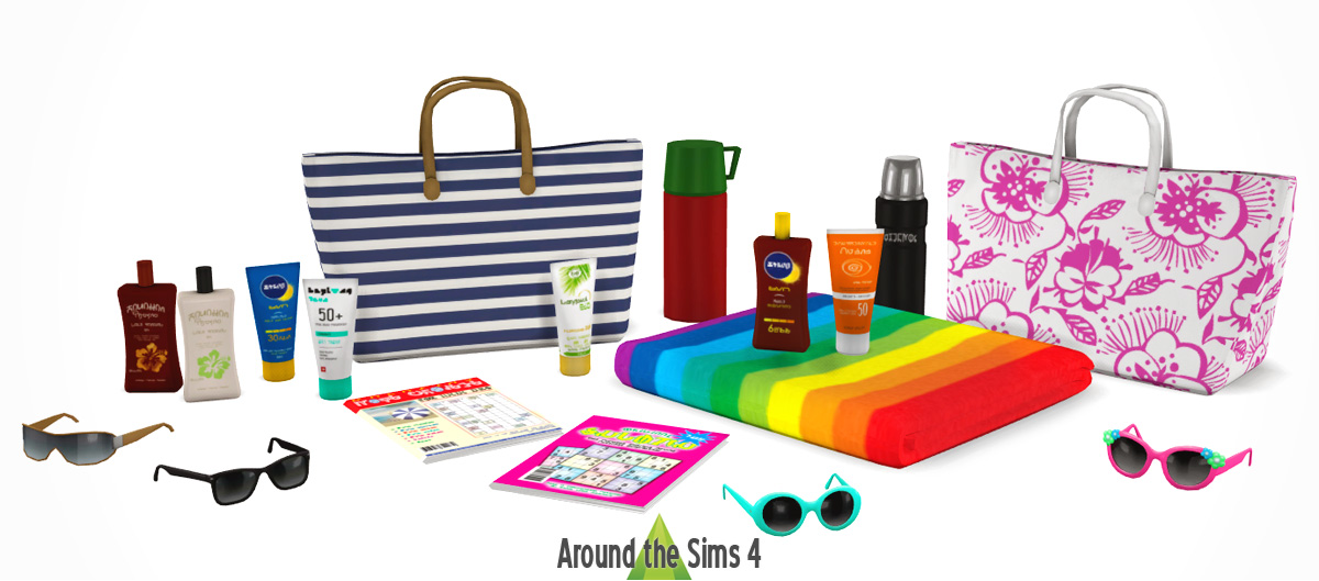 Around The Sims 4 Custom Content Download Beach Clutter