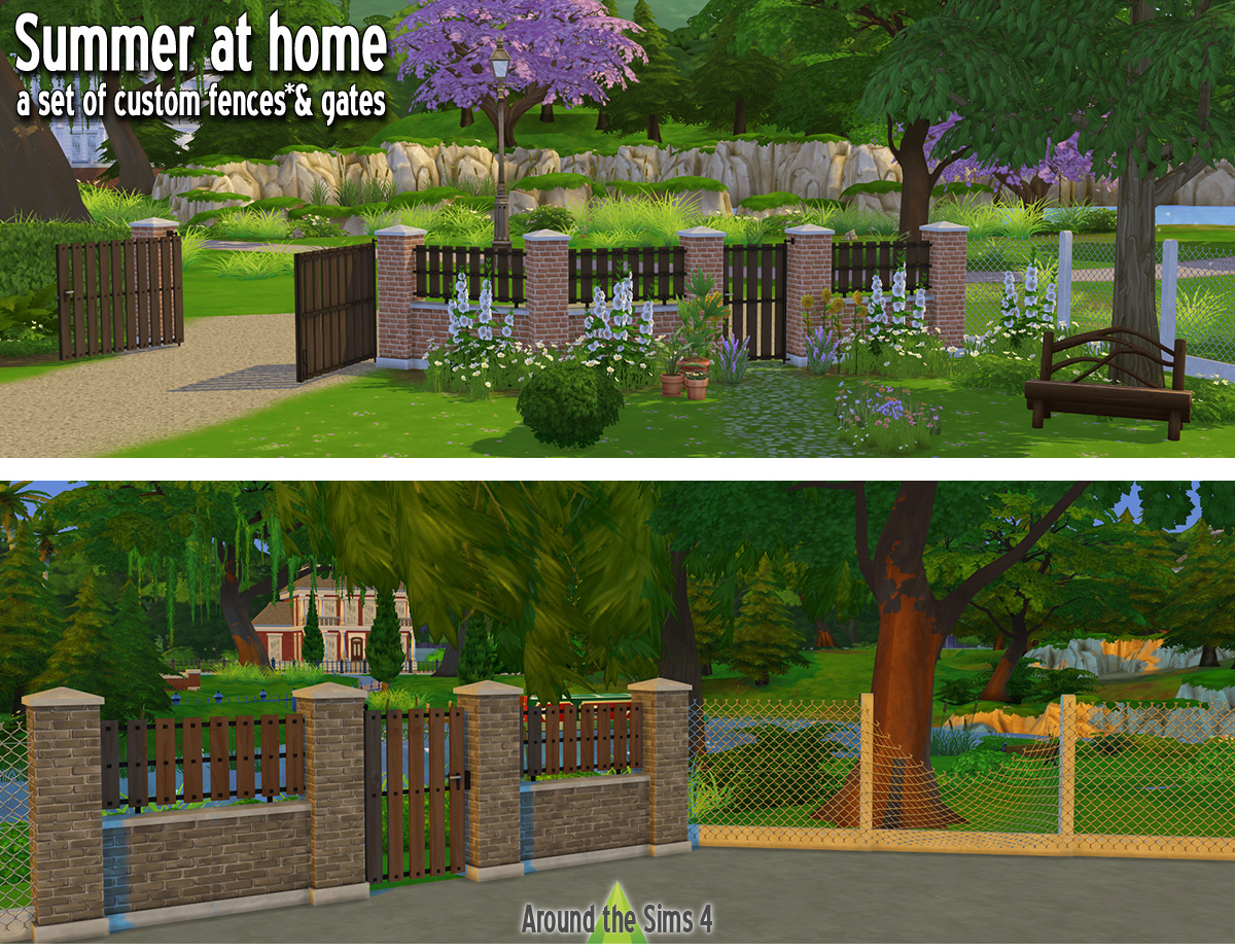 Around The Sims 4 Custom Content Download Custom Fences