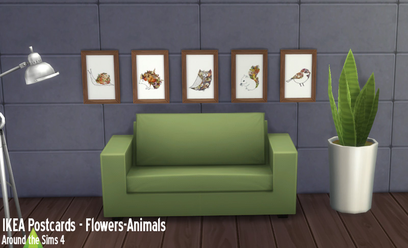 Around The Sims 4 Custom Content Download Objects Ikea Paintings