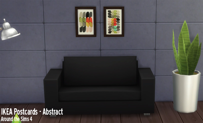 Around The Sims 4 Custom Content Download Objects Ikea Paintings Abstract
