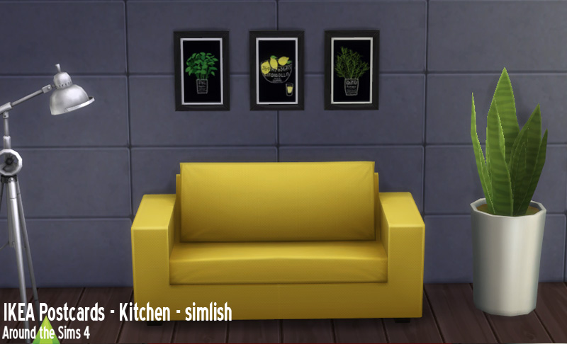 Around The Sims 4 Custom Content Download Objects Ikea Paintings Kitchen Herbs