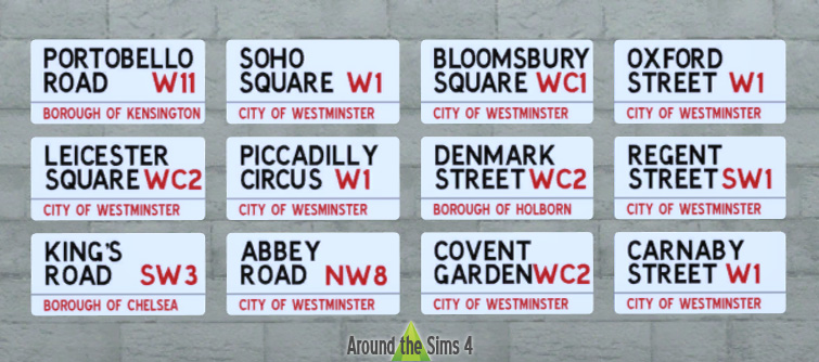 Декор для улицы London_english