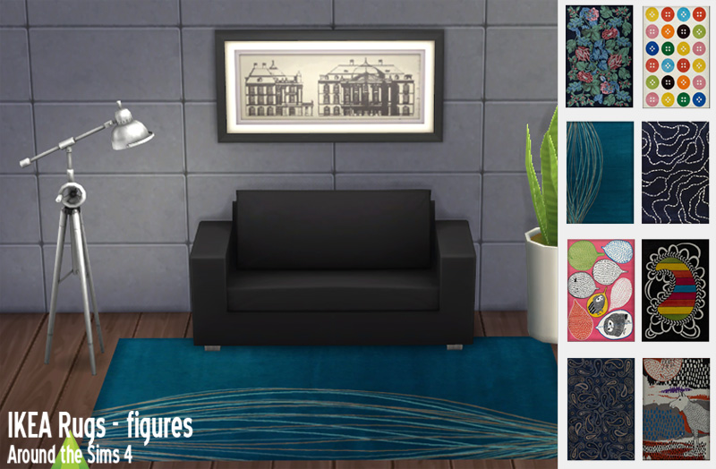 Around the sims 4 custom content download objects ikea rugs - Eclairage bibliotheque ikea ...