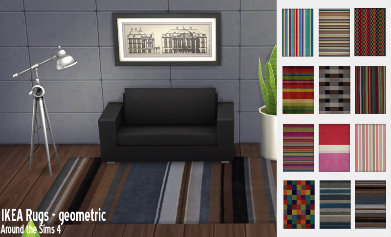 around the sims 4 custom content download objects ikea rugs. Black Bedroom Furniture Sets. Home Design Ideas