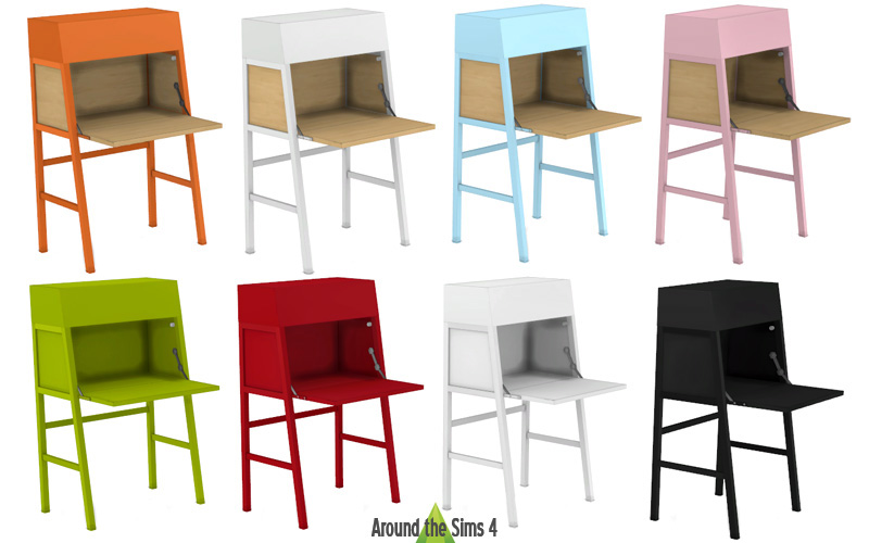 around the sims 4 custom content download objects ikea desks ps2014 malm linnarp. Black Bedroom Furniture Sets. Home Design Ideas