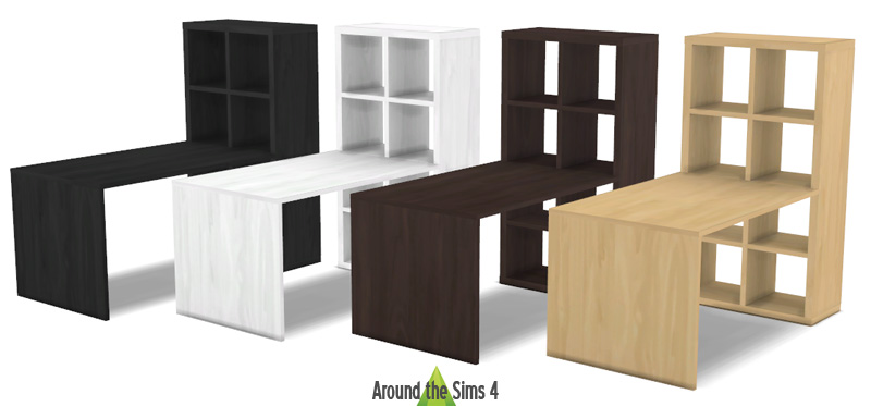 around the sims 4 custom content download objects ikea expedit kallax furniture. Black Bedroom Furniture Sets. Home Design Ideas