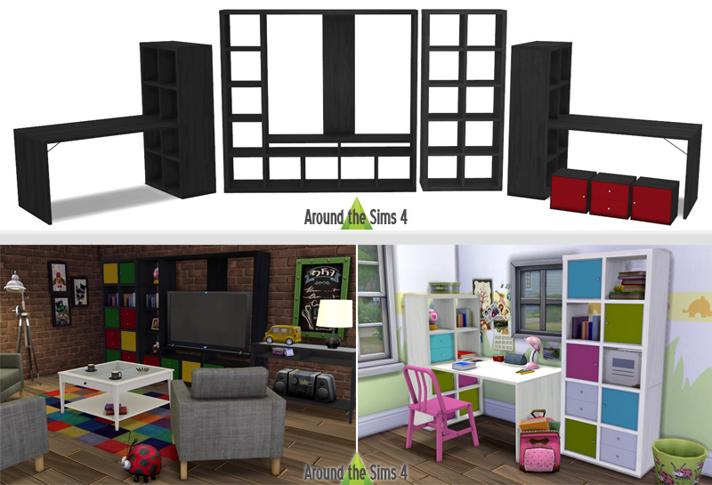 Around the sims 4 custom content download objects - Eclairage bibliotheque ikea ...