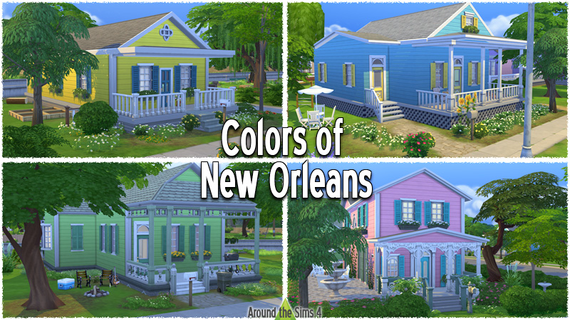 Around the Sims 4 | Custom Content Download | Building | Set | Colors of News Orleans
