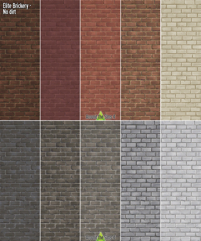 Around the Sims 4 | Custom Content Download | Dirty Brick ... Sims 1 Walls